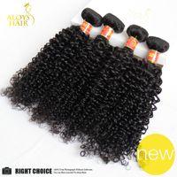 Wholesale Cheap Malaysian Deep Curly - 7A Peruvian Indian Malaysian Mongolian Cambodian Brazilian Deep Curly Virgin Hair Weave 3 4 5 Bundles Cheap Kinky Curly Human Hair Extension