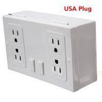 Wholesale Hot Sale screw holes Hidden Wall Power Outlet Socket Home Security Secret Money Key Safe Storage Case USA plug design