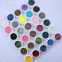 Wholesale Freeshipping Colors UV Gel with Mix Glitter Paillette for UV Nail Art Tips