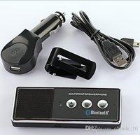 Wholesale 2015 Car Kit Bluetooth Speakerphone Bluetooth driving handsfree clamp sun visor Bluetooth headphone Bluetooth Wireless Speaker BBB3232