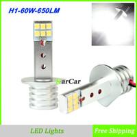 Wholesale New x W LM SHARP Chip H1 LED Head Fog Lights V V Auto Car H1 Fog Lamp Daytime Running Light DRL Bulb K White