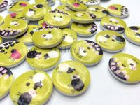 wood sheep - free shiping mixed mm sheep wood buttons children s clothes home decor craft scrapbooking sewing accessories