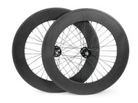 fixed gear - FeiFan mm width c bicycle wheels track mm clincher carbon track wheel fixed gear single speed wheelset with hub Novatec