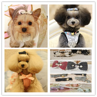 hair clipper accessories - high quality handmade pet dog puppy cat hair clipper bows clip accessories mixed styles