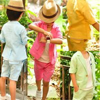 baby boy blazers - 2015 Hot Baby Boys Outfits Kids Blazer Clothing Sets Children Boys Summer Short Sleeve Blouser Top Short Pants Two Pieces Suits Set T