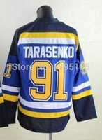 xxxxl size jersey - Size S xxxxl Vladimir Tarasenko Jersey Stitched St Louis Hockey classic Blue Jersey Dropping Shipping mix order