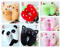 Cheap Neck pillow 7pcs 4inch 10cm Plush toy cartoon animal car u pillow neck pillow siesta small pillow retail