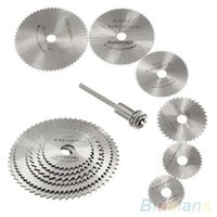 Wholesale 7Pcs HSS Rotary Tools Circular Saw Blades Cutting Discs Mandrel Cutoff Cutter Power tools multitool ON7 SS9