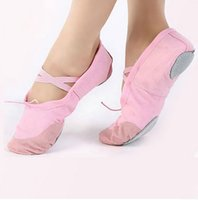 Wholesale Child Girl Women Soft Sole Dance Ballet Shoes Comfortable Fitness Breathable Canvas Practice Gym Slippers HO654189