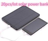 Wholesale 20pcs mah Dual USB Solar Charger Solar Panel Emergency Backup Battery Power Bank For iPhone iPad Samsung