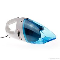 Wholesale Jian Yan Mini Protable V Car Wet Dry Dust Catcher Cleaner Blue china hdx