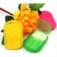 Wholesale HOT washing cleaning bath Craft travel paper petals shape soap gift organtic wedding favor mulit color