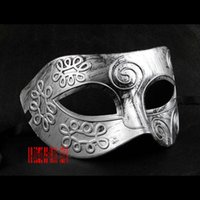 Wholesale Freeshipping Half face mask Halloween retro Rome grain masquerade dressed props show catwalk