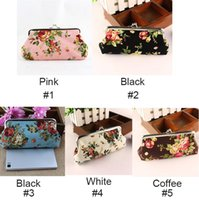 Wholesale Fashion Korean Soft Floral Rose cute women Children Coin Change Key Purse Bag wallet clutch Gift Handbag D rose Change Purse