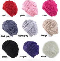 beret hats for sale - Hot Sales Women Warm Hat Baggy Beret Hot Sales Chunky Cotton Knit Knitted Braided Beanie Ski Cap Color For You