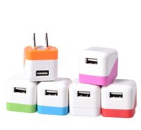 apple shaped candy - Candy Colour Dice Shape Charger head US Plug Mini USB Travel Charger AC Wall Power Adapter Charger For iPhone S S iPad Samsung