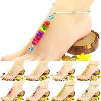 Wholesale Boho Tophus Beads Summer Beach Sandal Ankle Toe Ring Barefoot Anklet F1I