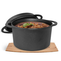 Wholesale NEW cm Cast iron Dutch pot stew uncoated L multifunctional Pot becomes a fry pan