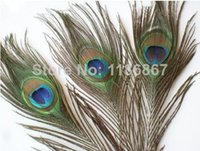 Wholesale Beautiful Natural Peacock Tail Feathers cm inch peacock feathers for sale centerpieces DIY