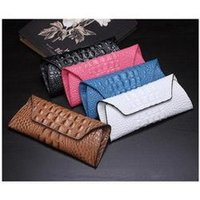 Wholesale New Fashion Genuine Leather Women s Wallets Clutches Long Style Vintage Crocodile Money Purses Card Holder