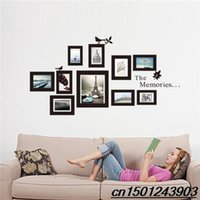Wholesale DIY Home Decor MODERN ART PHOTO FRAME Wall Sticker Viny Mural Removable Decal