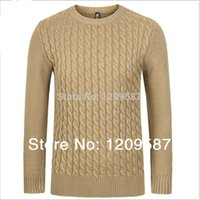 Wholesale men s sweater brand mens sweaters o neck winter autumn thicken sweater cotton woolen pullover fashion casual