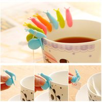 Wholesale 5pcs Cute Snail Shape Silicone Tea Bag Holder Cup Mug Candy Colors Gift Set COOL Color Randomly