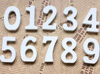 Wholesale White Wood Wooden Numbers Alphabet For Wedding Birthday Home Decor decoration