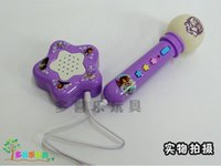 Wholesale Frozen microphone kids Elsa Anna Carry Music Microphone Children Music toy Karaoke Microphone suit free shpping
