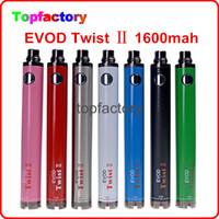 Wholesale EVOD Twist II battery mah evod twist battery v v EVOD Twist ecig battery suit with CE4 CE5 H2 protank atomizer AAA quality