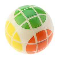 ball brain - Ball shaped Number Magic Cube Sphere Puzzle Brain Teaser with Six Different Colors
