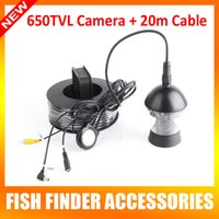 Wholesale Only Rotate Degree Waterproof Camera TVL White Leds ft m Cable Work For Underwater Video Camera