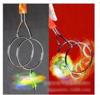 Wholesale 2016 new hot sell new Magic rolled by gyro yo yo corlorful light track children gift