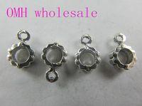Wholesale OMH g x7 mm Retro Tibetan silver Jewelry accessories Zinc alloy big hole connectors for bracelet PJ208