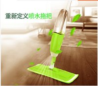 Wholesale Spray Mop Cleaner With Replaceable Micorfiber Cloth And Liquid Bottle Green