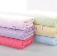 Wholesale HHA376 Hot Sell Bamboo fibre facecloth towel child small wash towel x25cm piece pack