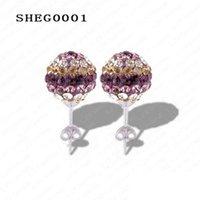 ab circle - Hot Sale mm AB Clay Circle Crystals Ball Fashion Shamballa Earrings Mix Cplors Options SHEGmix1