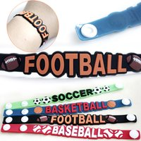 assure factory direct - 18 cm kids Sports Silicone Bracelet Celebrity Gift Ball Can mix Kids Jewelry friendship bracelets Factory direct Quality assure