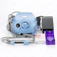 Others blue drilling machine - Pro V Blue Electric File Buffer Bits Machine Set Electric Nail Art Drill Manicure Pedicure Nails Tool Kit