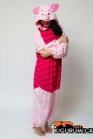 adult athletic wear - Girl Animal Suits Adults Piglet Cosplay Costume Onesies Couple Pyjamas Pajamas Sleepwear Party Wear