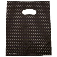 Wholesale New Arrival Black Ground Star Plated Plastic Bags Handle Bags Shopping Bags cm