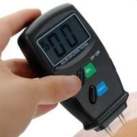 Wholesale 1 Pins Digital LCD Wood Moisture Humidity Meter Tester Measure Timber Damp Detector Hygrometer