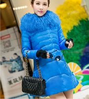 coats and jackets - new women s autumn and winter long down jacket Girls Korean version A word luxury fashion fur collar coat