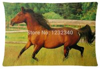 arabian horses - Cool Pillowcase Running Arabian Mare Horse Wild Animal Style Pillow Case Twin Sides x30 Inch