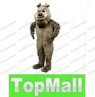 Wholesale Professional custom Bulldog Mascot Costume Party Supply Adult Size AAA40