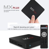 Wholesale MX plus Smart TV Box Kodi Amlogic S905 Quad Core GB GB Fully Loaded WiFi P HD Media Player Android TV Box Remote Control