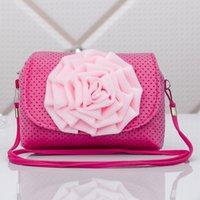Wholesale 11 color princess D flowers messenger bag child baby bags Three dimensional large flowers Inclined shoulder bag little girl bags
