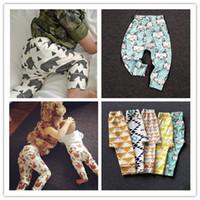 Wholesale 8 Brand kids Leggings boys girls clothes baby clothing trousers harem Tights Pants leggings toddler panda fox pants