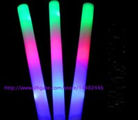 Wholesale cm multi color led foam stick led foam baton glow stick for wedding party