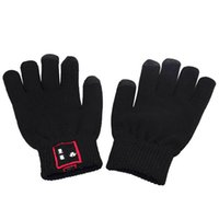 Wholesale Christmas gift Weave Wool Bluetooth Talking Gloves Touch Screen Gloves for Cell Phones Moblie Phones Hands Free Touch Function